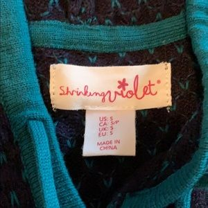 Shrinking Violet Sweaters - Shrinking Violet Hooded Sweater